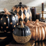 black and gold pumpkins