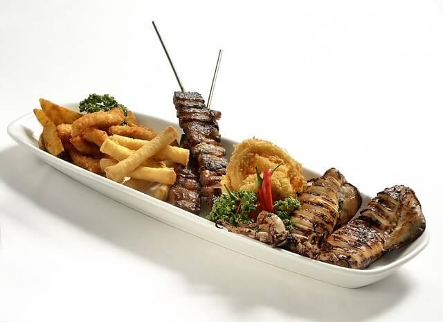 bbq food platter