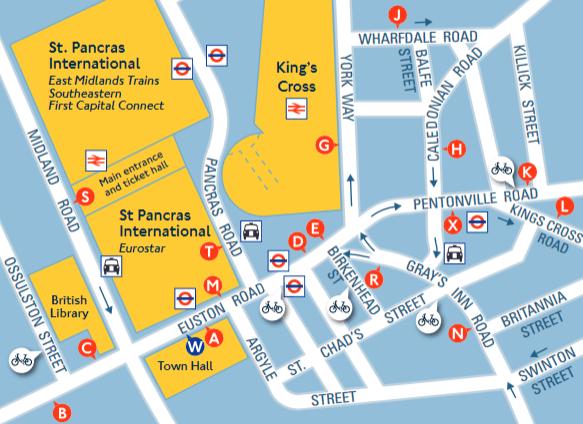 ロンドン バス乗り場とバス路線