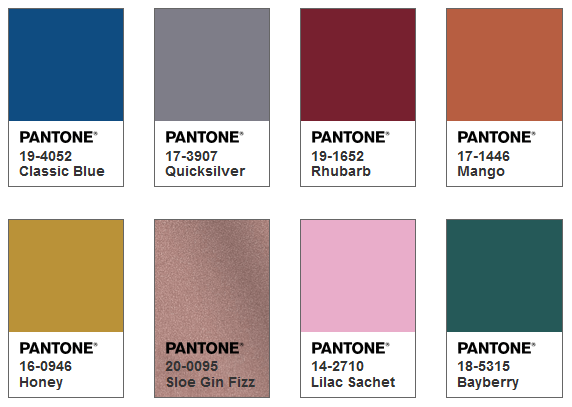 Pantone カラーパレット Exotic Tastes