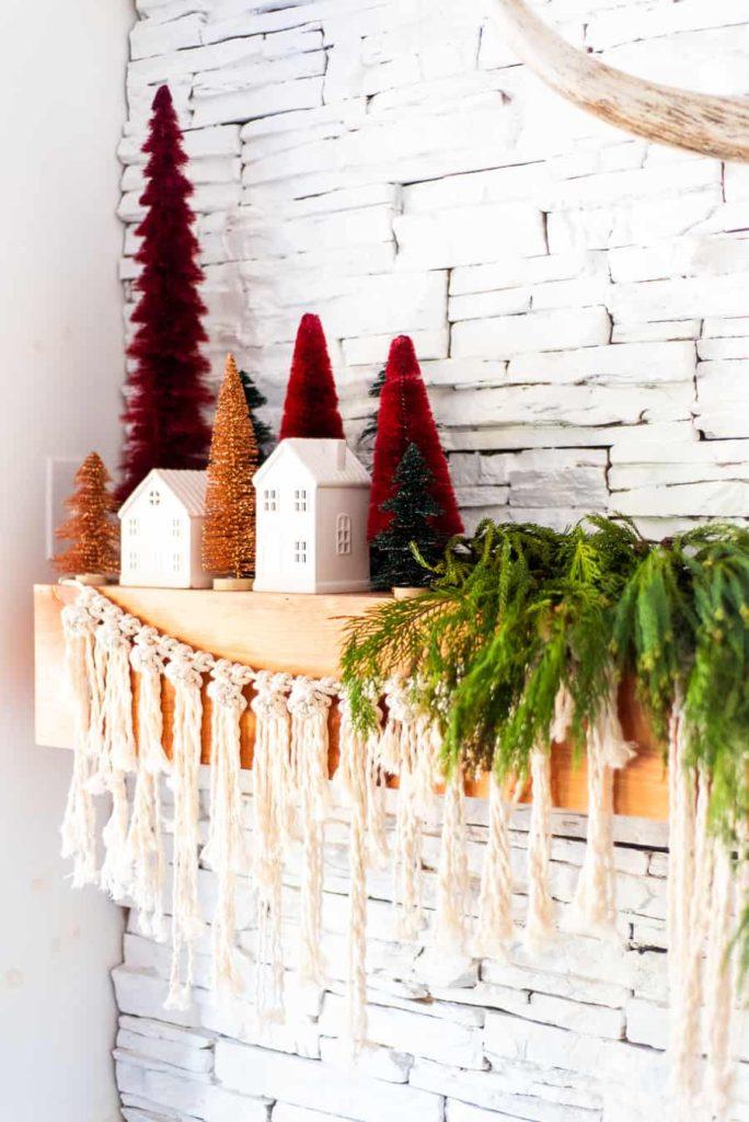 クリスマスツリー 暖炉