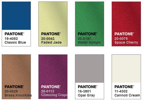 Pantone カラーパレット Untraditional
