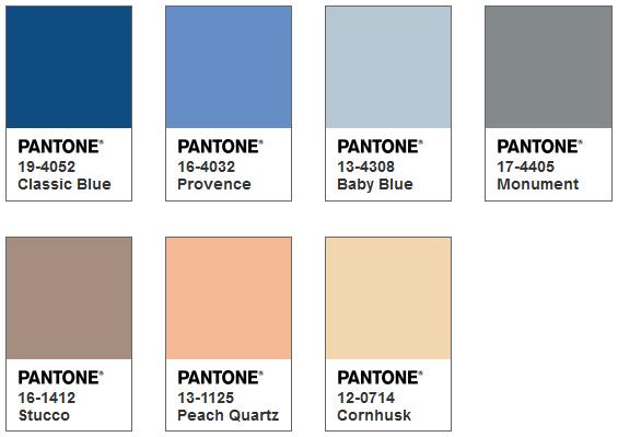 Pantone カラーパレット Ponder