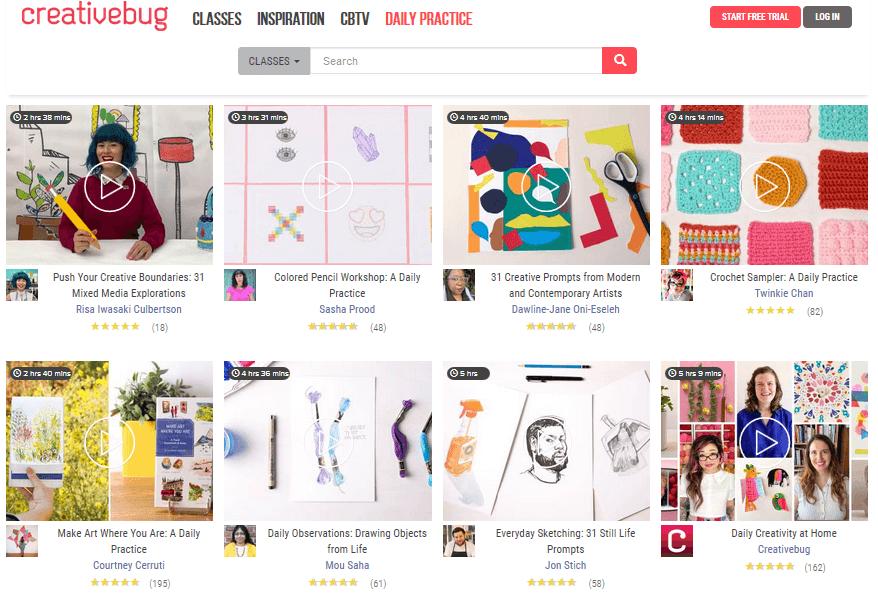 creativebug オンラインコース